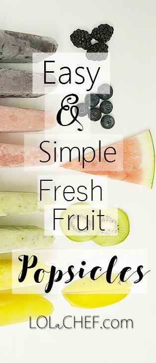 A recipe for homemade popsicles suing fresh fruit.