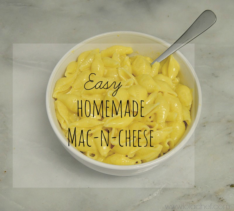 Easy great tasting way to make homemade macaroni and cheese from scratch. This recipe uses shells with a unique cheese sauce recipe for delicious flavor.