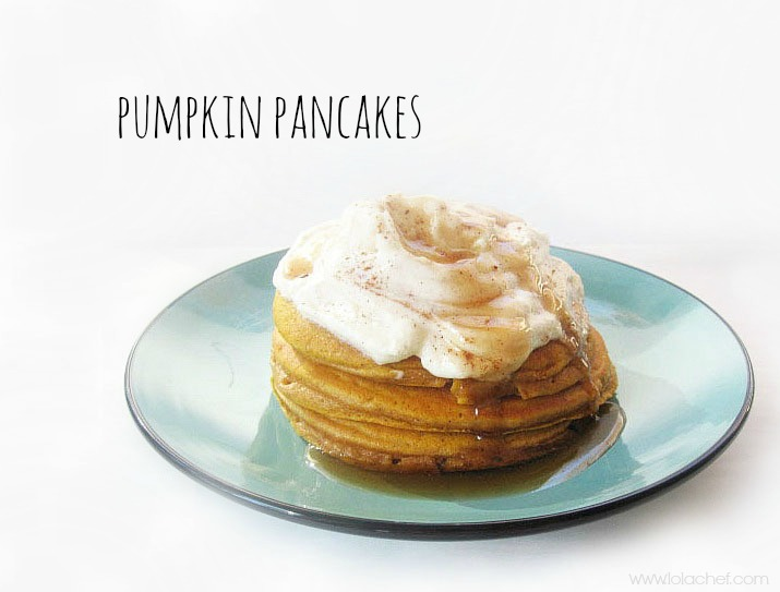 A fluffy and light pancake recipe with punpkin for added flavor.