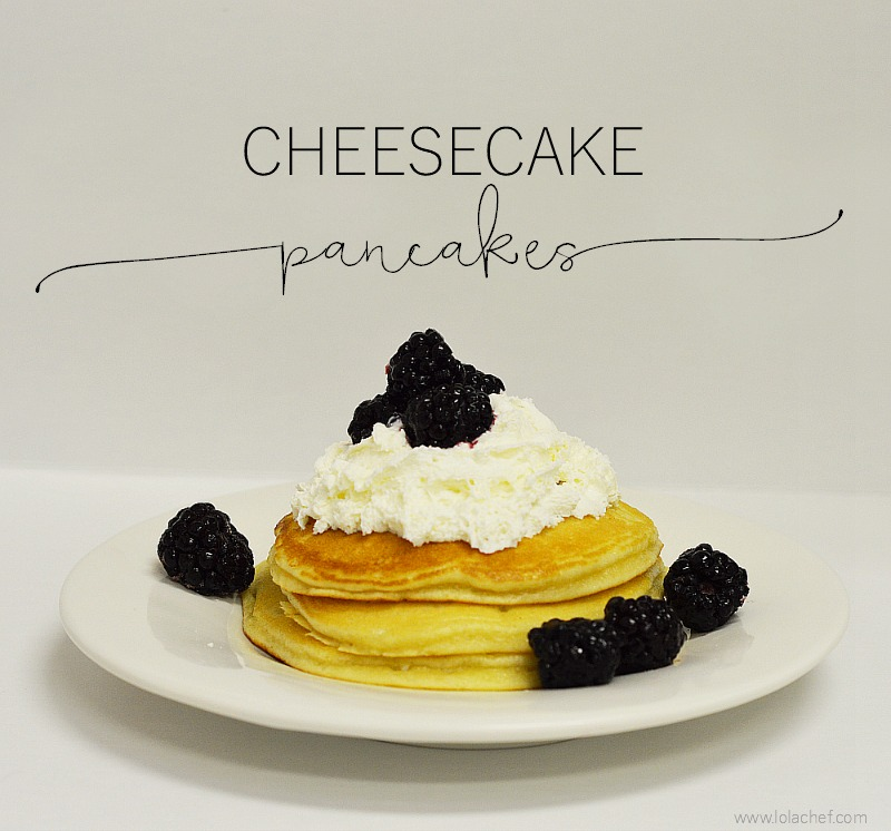 A delicious recipe for homemade pancakes with fresh cream cheese and lemon zest..