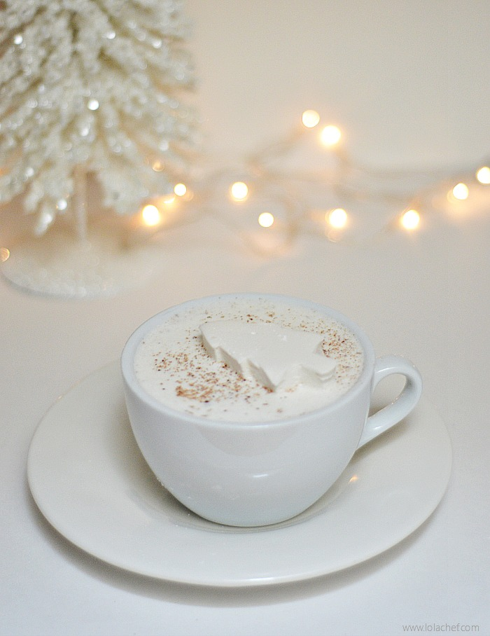 Delicious variation of an eggnog recipe using egg whites and light cream.
