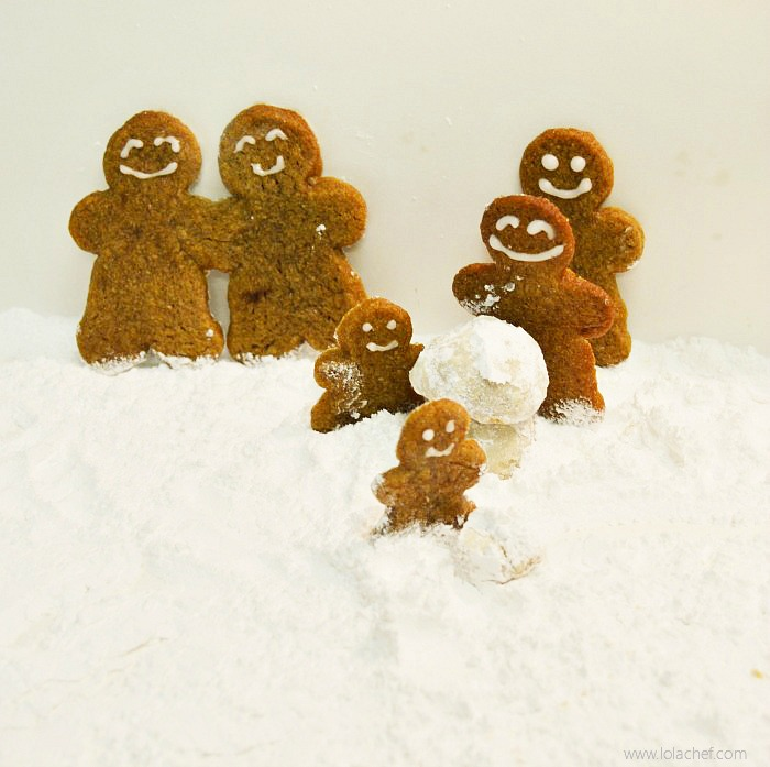 Snowball cookie recipe with a hint of cinnamon for holiday flavor.