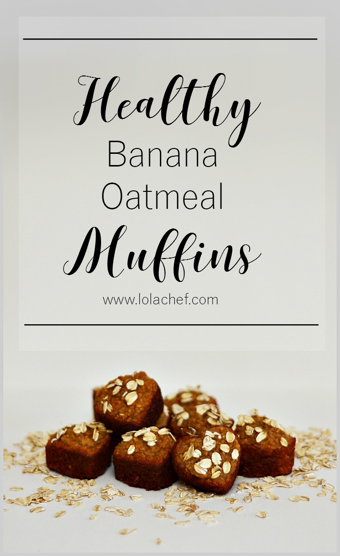 A healthy oatmeal banana muffin recipe filled with fruit, honey, and honey.
