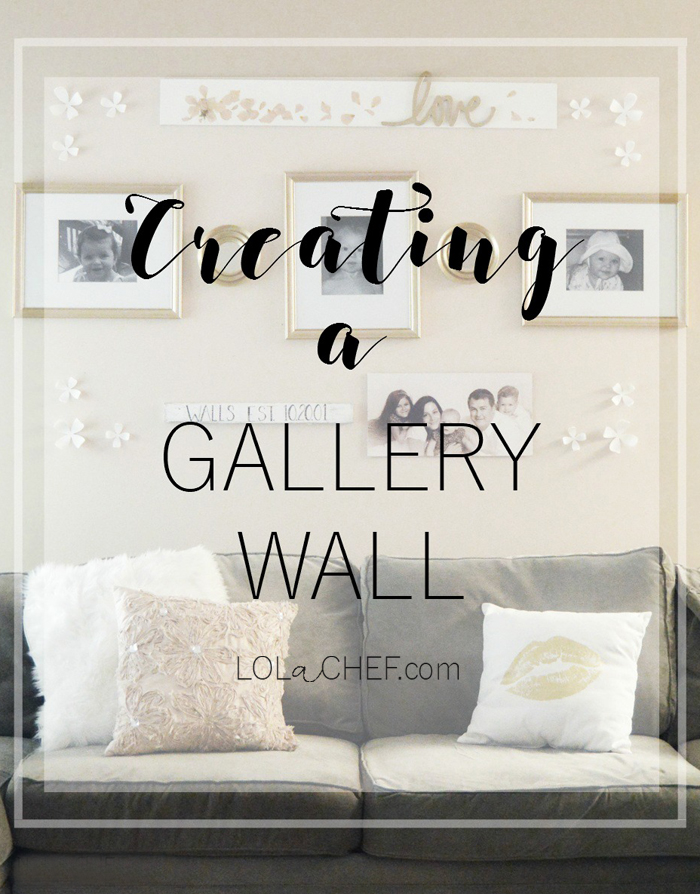 A simple and easy way to use a gallery wall to DIY a family photo display.