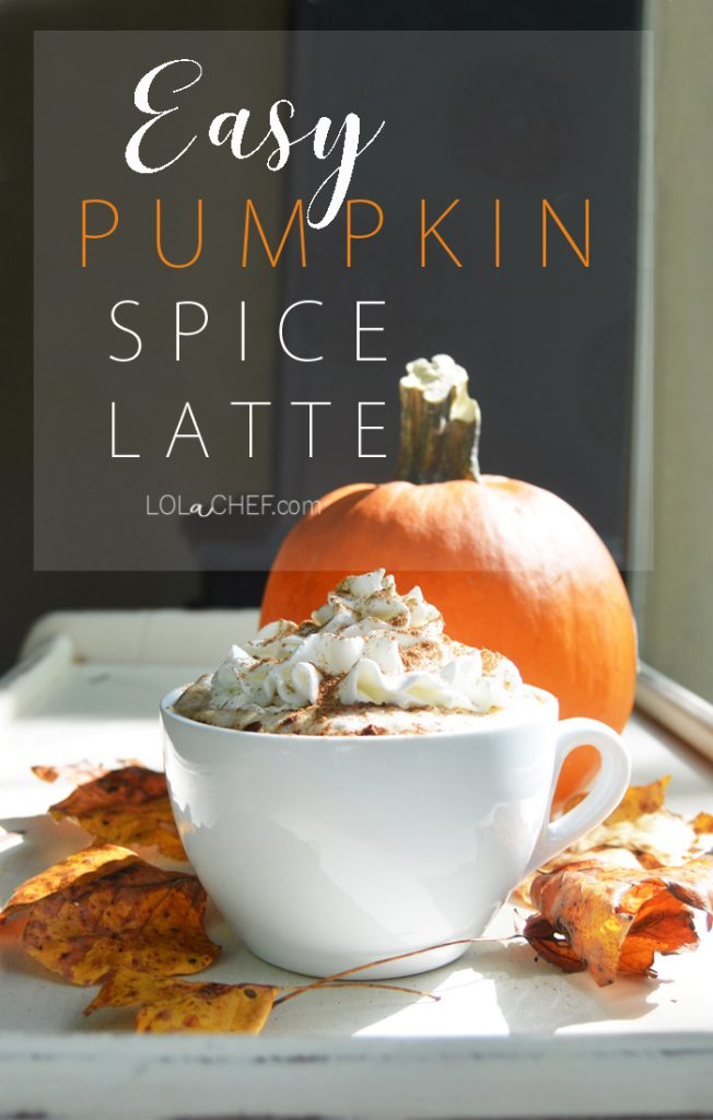 A recipe for a healthy made at home pumpkin spice latte