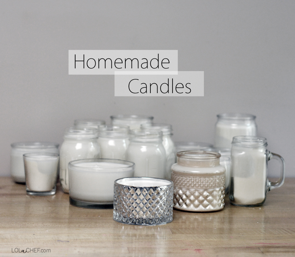 How to make a homemade candle using recycled jars.